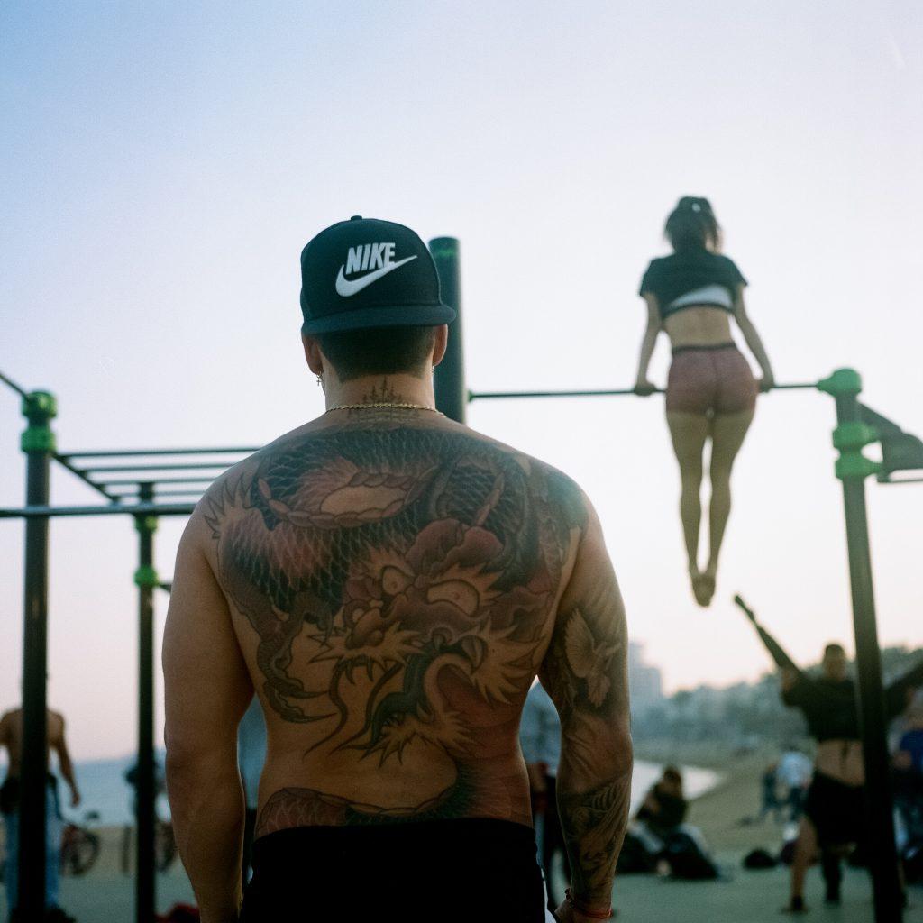 Bodybuilder in Barcelona